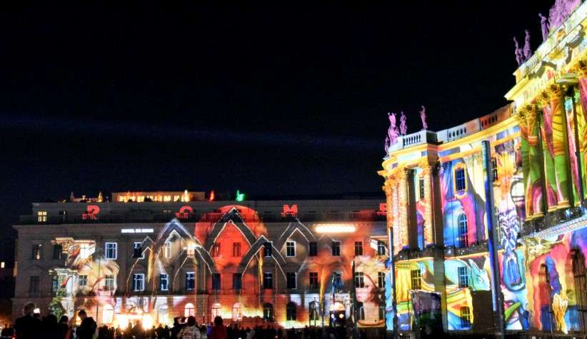 Festival of Lights am Bebelplatz im Oktober 2018.