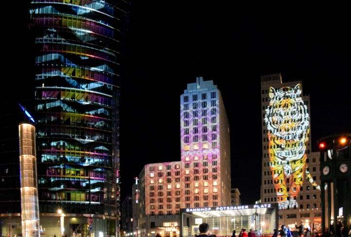 Festival of Lights am Potsdamer Platz.