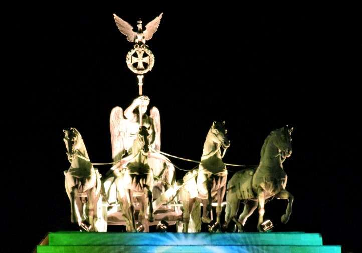 Quadriga - Retourkutsche - Brandenburger Tor in Berlin.