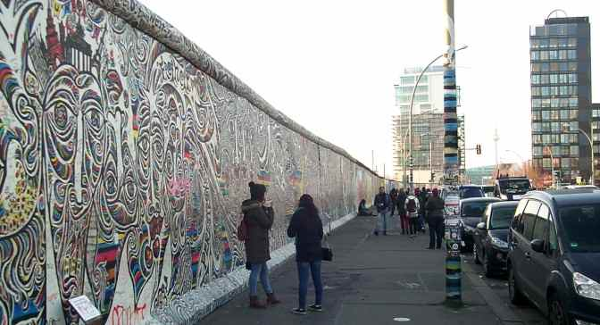 East Side Gallery an der Mühlenstrasse