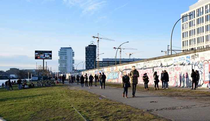 Todesstreifen East Side Gallery in Berlin
